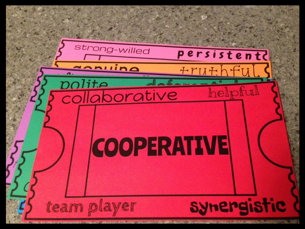 blog i love using these posters because it reminds me to be very specific when handing out raffles the synonyms for each character trait are also a great visual