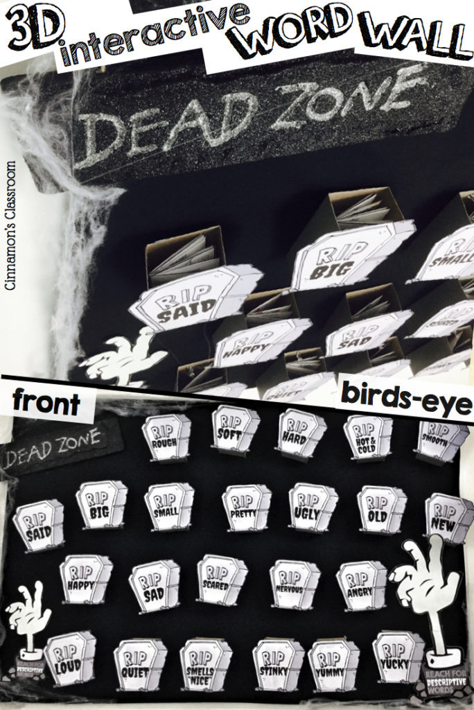 Learn how to make a 3D interactive word wall for 'dead words'.
