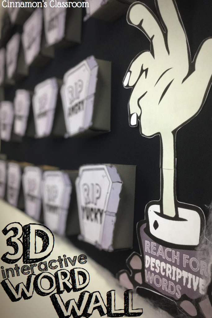 "How to create a 3D interactive word wall for overused ""dead words""!"