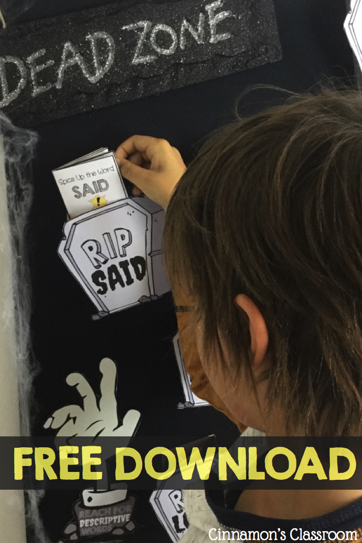 """A blog post on how to create a 3D interactive word wall for overused 'dead' words. Includess a FREE sample for """"said"""""""