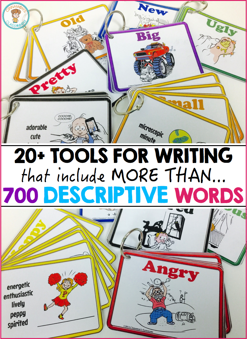 tools to improve descriptive writing one stop teacher shop descriptive writing expand vocabulary picture thesauruses synonym cards enhance writing