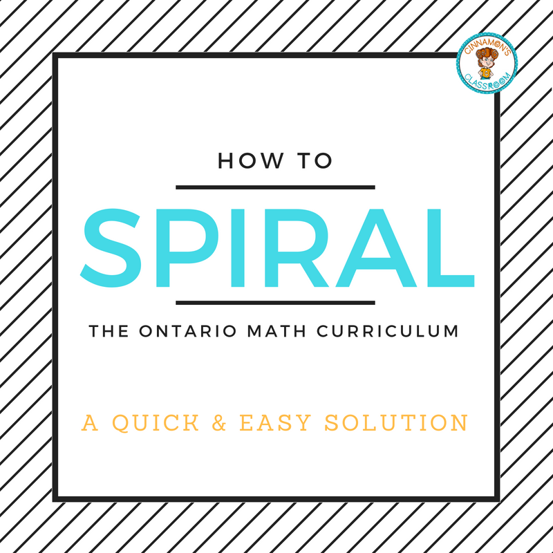 How to Spiral the Ontario Math Curriculum